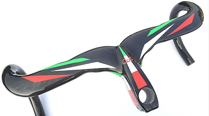 Specials! cycling king ck Road Bicycle Integrated Handlebar with stem Carbon Road Handlebar+top cap internal bar