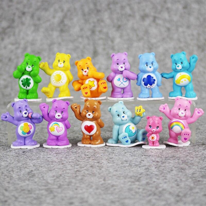 12pcs lot Cartoon Care Bear PVC font b Figure b font font b Toys b font