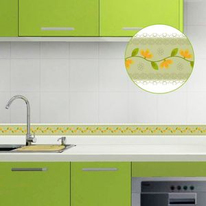 Image 3 - Papel tapiz 3D de 10M, borde de PVC, línea de rodapié autoadhesiva, pegatina impermeable, azulejo moderno extraíble, pegatina de pared para cocina y baño