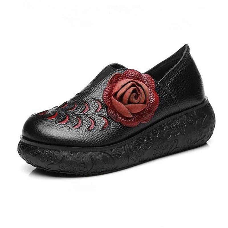 Femme Noir Élégantes forme Fleur Rétro Compensées Pompes Femmes 2018 Hauts rouge Plate Chaussures Zxryxgs Mode gris Marque Date À Talons De 8TxnSqUCBw