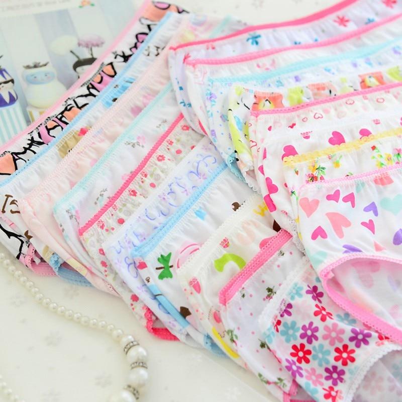 6st / pack New Fashion New Baby Girls Mjuka Underkläder Bomullspanty För Baby Girls Kids Short Briefs Barn Underbyxor Hot