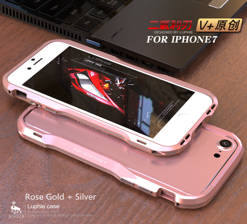 iPhone X 7 8 Plus Luphie Metal Bumper Aluminum Case (16)