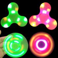 Wireless Bluetooth Speaker Triangle Gyro LED Light Flashing Bluetooth Speaker Funny Finger Speaker Fidget Spinning Audio