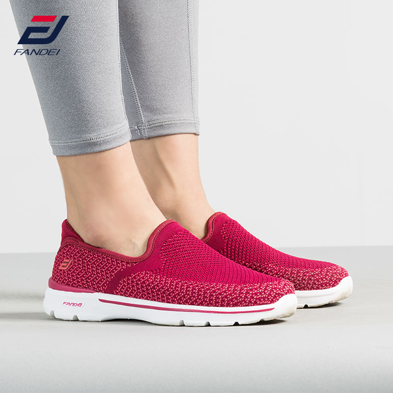 FANDEI new walking shoes women breathable mesh running shoes for women comfortable women sport shoes slip on women sneakers 2018