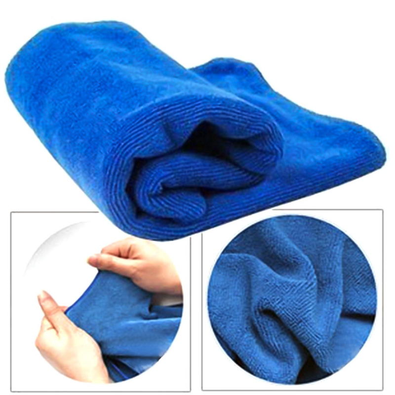 5PCS Car Wash Cloth Car Auto Care Microfiber Wipes Weft Cleaning Supplies Gifts