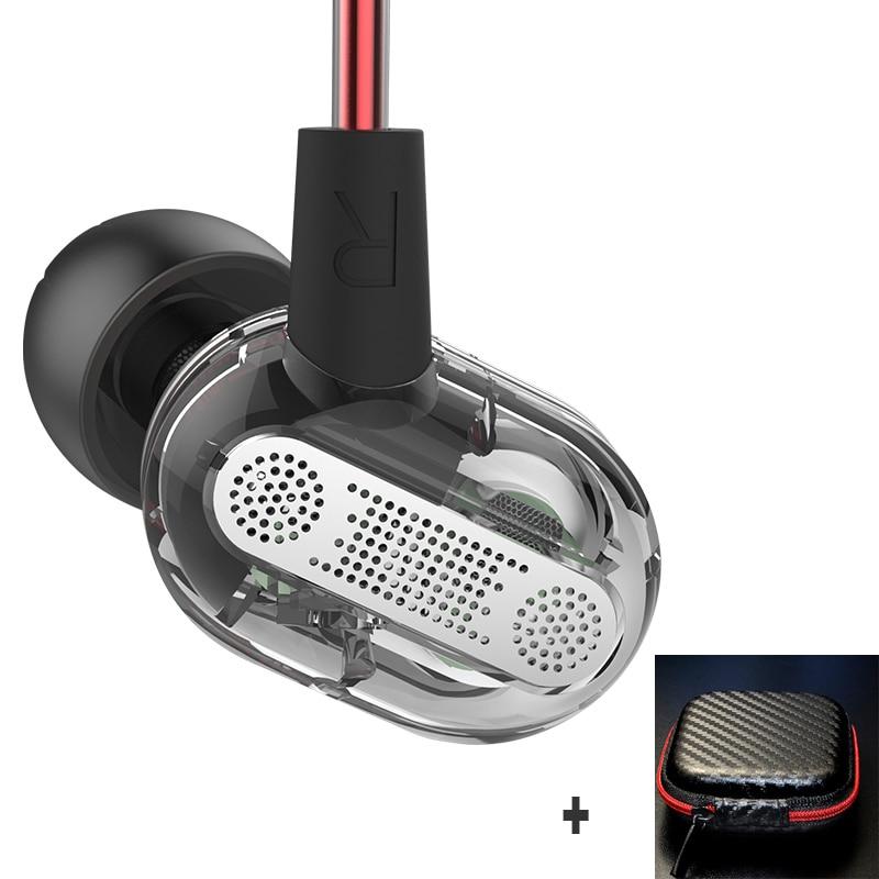 KZ ZSE Dual Dynamic Drivers In Ear Earphone Headset Audio Monitors Headphone Noise Isolating HiFi Sports Earbuds pkkz-ed2 zs6