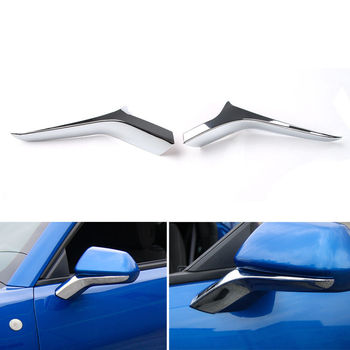 2x ABS Rearview Mirrors Side Stainless Base Cover Trim Strip Decor Sticker Fit For Chevrolet Camaro 2017 Car-Styling Accessories