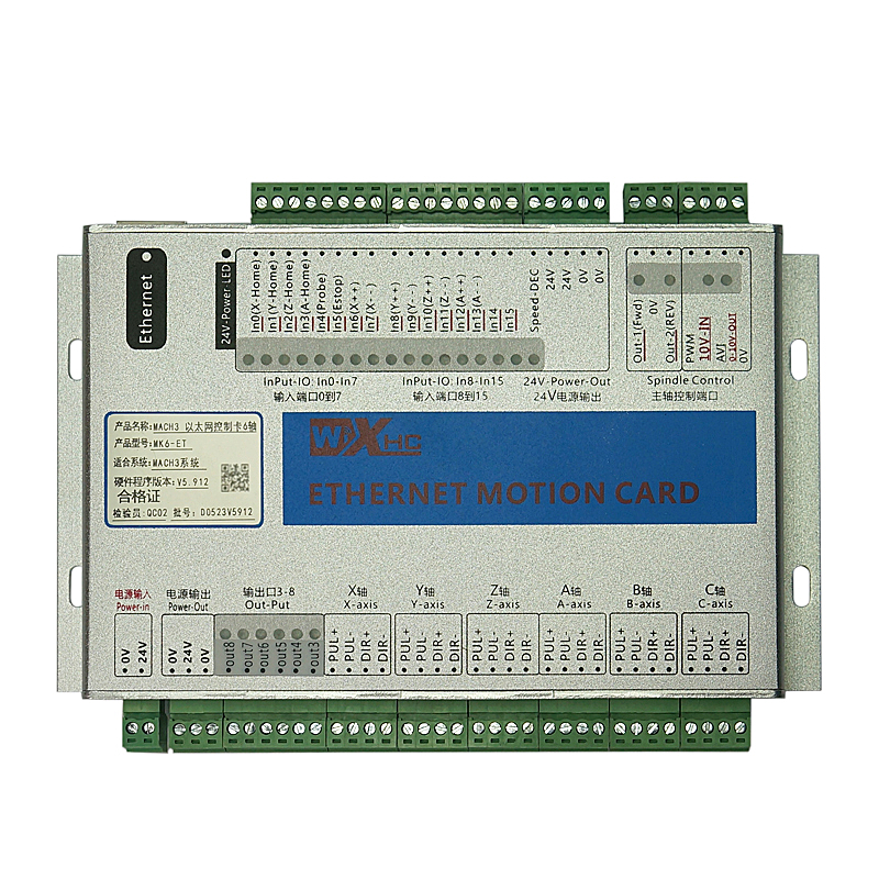 XHC MK6 CNC Mach3 USB 6 Axis Motion Control Card Breakout Board free shipping 2pcs high power wireless bridge cpe 2 3km comfast 300mbps 2 4ghz outdoor wifi access point ap router wifi repeater for ip camera