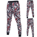 3D Impreso hombres pantalones Punk Street style hombres Frescos pantalones Joggers pantalones de Chándal Corredores Sueltos MQ375