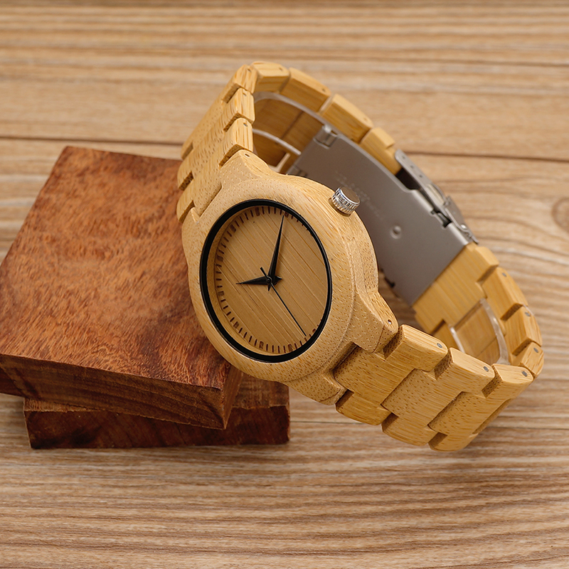 Luxury Women Watch Bamboo-Band Bobo Bird Gifts Quartz Feminino New 2035 C-L28 Move' Japan