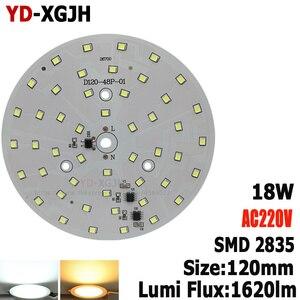 Светодиодный Интегрированный Драйвер IC AC220V pcb smd 2835, для лампы, светильник без водителя, алюминиевая плата AC220 в, для 18 Вт, светодиодный светил...