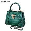 Saco de marque mini bolsa de crocodilo das mulheres de couro moda bolsas bolsa de Ombro Mensageiro pequeno saco verde bolsa sac a principal femme