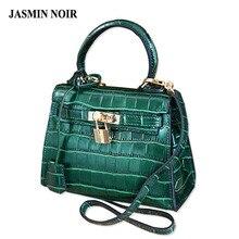 Sac de marque mini frauen handtasche krokodil leder mode handtaschen Schulter Messenger kleine tasche grüne tasche sac ein haupt femme
