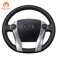 Black Artificial Leather Car Steering Wheel Cover For Toyota Prius 2012