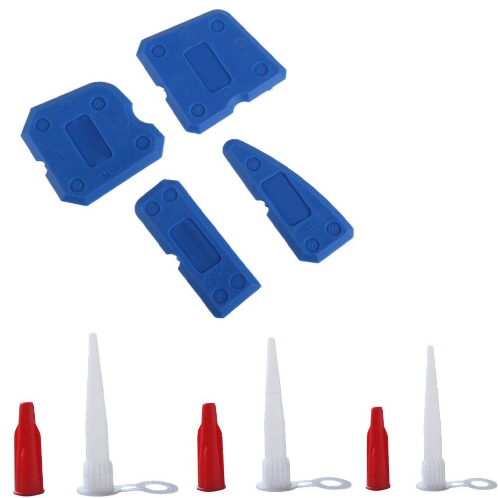 5Sets Per Order Economy Easy Work Caulking Tool Kit Caulk Caps Sealant Finishing Tool For Bathroom Kitchen And Floor Sealing