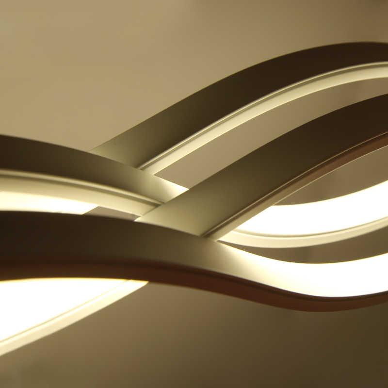 120 CM blanco negro moderno colgante luces para comedor sala de estar cocina regulable led lámpara colgante lamparas forma de onda