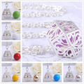 H007 Pregnancy Baby Gift Silver Locket Pendant With Chain Necklace Harmony Bola Ball Angel Caller To Unborn Baby