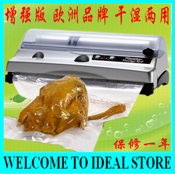 European Quality Magic Vac Prestige Roll Vacuum Sealer, Household Vacuum Food Sealer+3 rolls of bags
