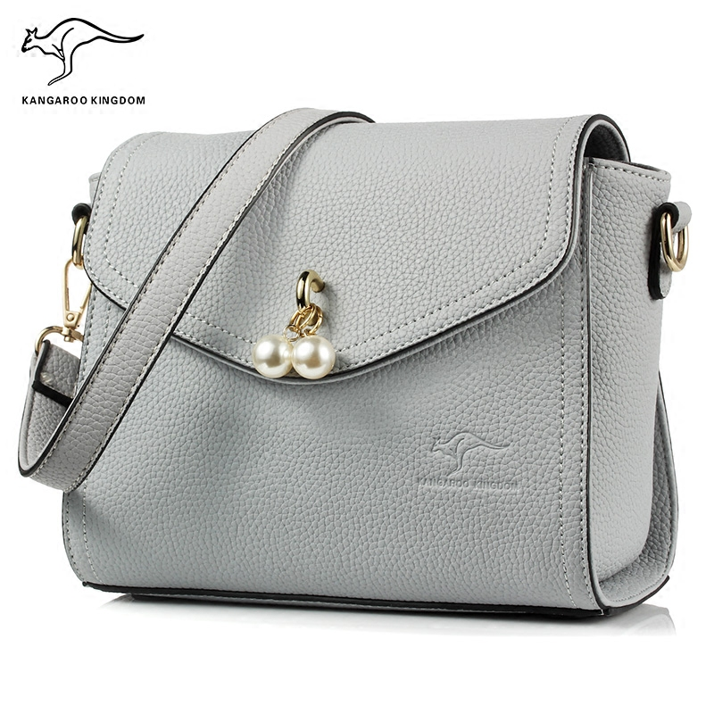 KANGAROO KINGDOM fashion women bag PU leather lady small shoulder bags crossbody women messenger 2017 fashion all match retro split leather women bag top grade small shoulder bags multilayer mini chain women messenger bags