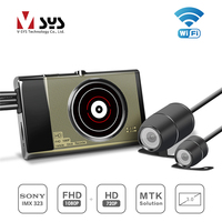 SYS 2018 newest motorbike DVR M1 WIFI with front FHD and rear HD two channels record at the same time action dvr sport camera