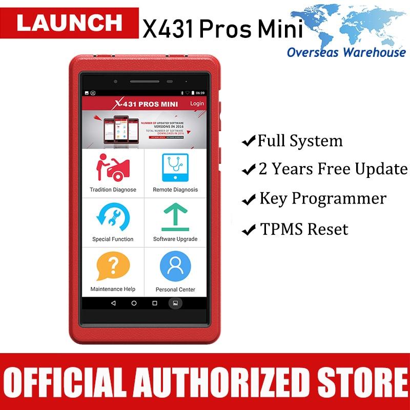 Launch X431 Pros Mini Automotive Diagnostic Tool Full System Car Diagnostics Scan Tools ECU Coding Auto