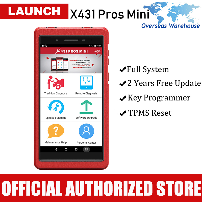 Launch X431 Pros Mini Automotive Diagnostic Tool Full System Car Diagnostics Sca