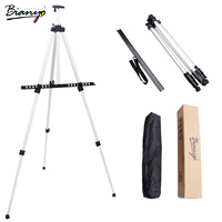 Bianyo Mini Metal Easel 51 167cm Foldable Sketch Easel Display Easel Outdoor Sketch for Artist Painting Art Easel Aluminum Alloy