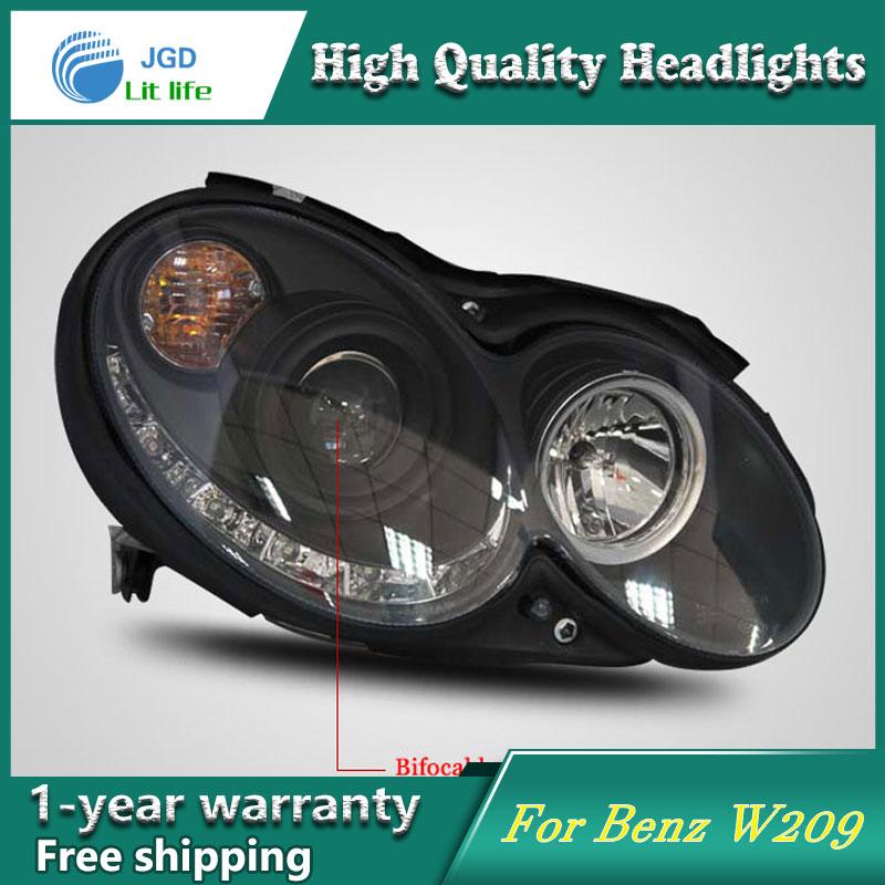 высокое качество чехол стайлинга автомобилей для Benz CLK280 CLK320 CLK200 CLK230 фары LED объектив фар DRL двойной Луч HID ксеноновая
