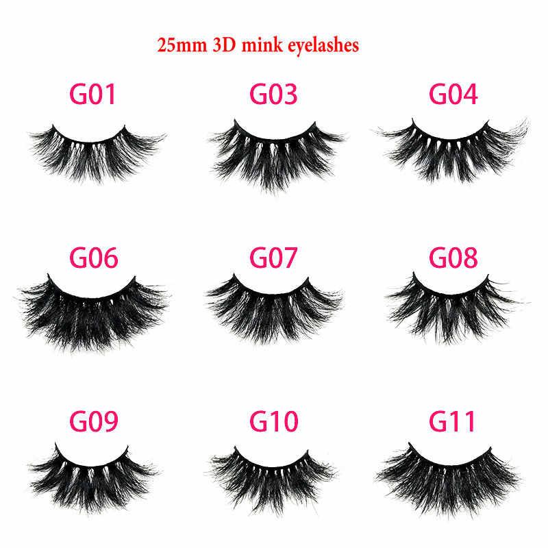 0ce6e4b3019 3D Mink Lashes 25mm Eyelashes 100% Cruelty Free Lashes Handmade Reusable  Natural Eyelashes Popular False