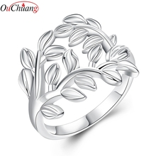 Free Shipping High Quality Jewelry Silver Color Charm Wedding Rings Fashion Finger Ring for Women Gift OUCHUANG Brand