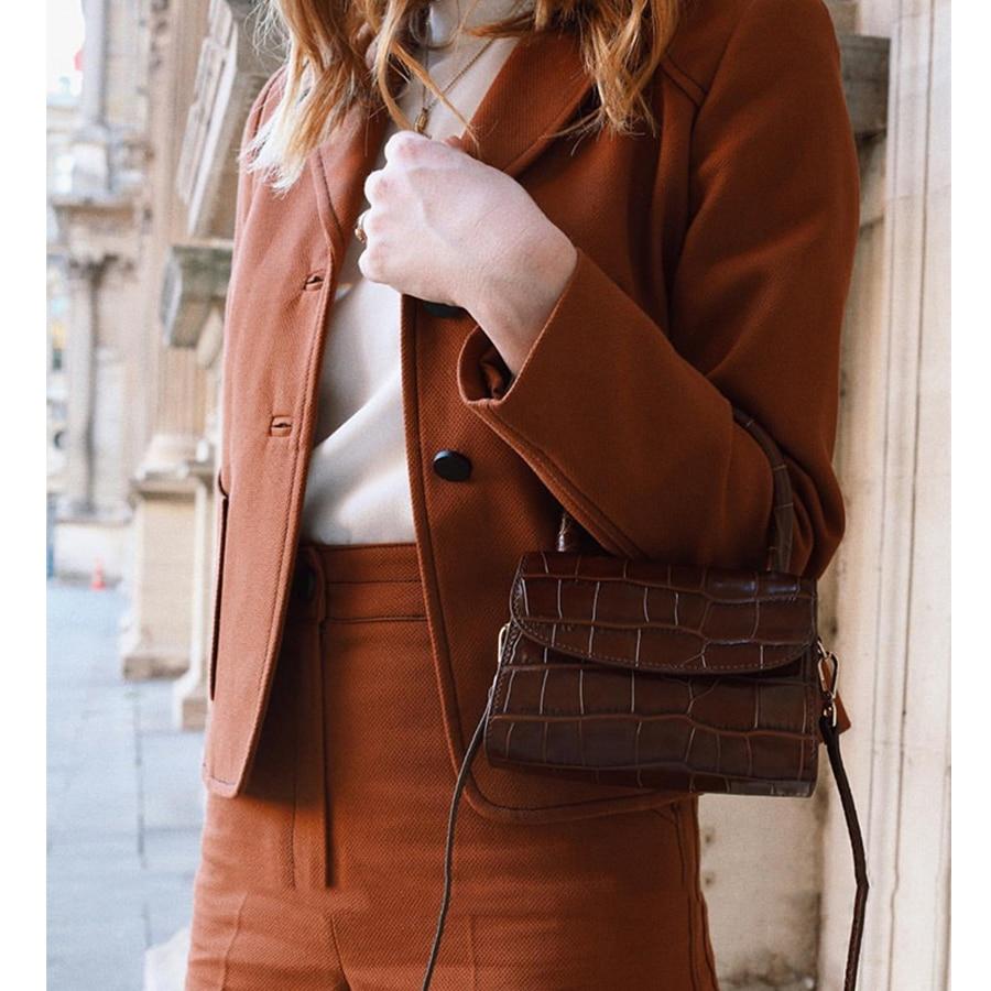Image 4 - Bolsa Feminina Fashion Alligator Top handle Handbag Designer Women Crossbody Bag Mini Shoulder Messenger Bags for Women 2019 Sac-in Top-Handle Bags from Luggage & Bags