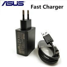 Asus carregador rápido original zenfone 5 4 3 2 max, zc554kl zc520tl, telefone 9v/2a qc adaptador de viagem e cabo de dados usb 2.0