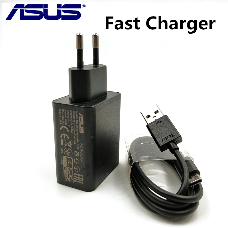 Original ASUS Fast Charger Zenfone 5 4 3 2 max zc554kl zc520tl Phone quick charge 9V/2A qc 2.0 Travel Adapter & usb data Cable
