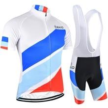 Bxio короткий рукав Велоспорт Джерси комплект летняя велосипедная Одежда Белый Pro велосипедная форма крутой велосипед одежда 091