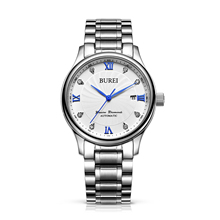 BUREI 1001 Switzerland watches men luxury genuine diamonds Seagull ST1612 automatic self wind calendar stainless steel