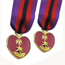 custom 3D eagle medal hot sales USA military high quality usa gold medals with tapes