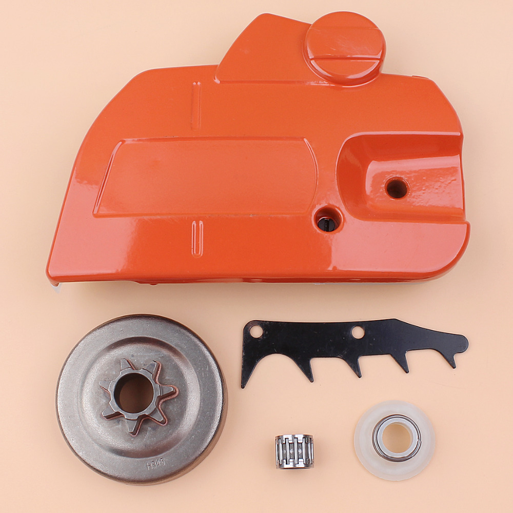 Clutch Drum Chain Brake Side Cover Felling Dog Worm Gear Kit For Husqvarna 445 450 Chainsaw Saws Replacement 544097902