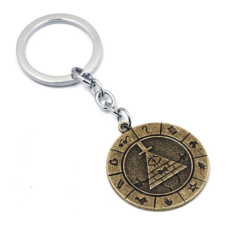 Gravity Falls Bill Cipher BOSS Keychain Brozen Metal Pendant Anime Gift New
