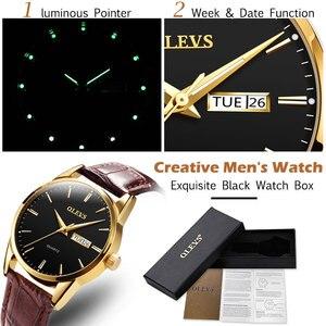 Image 3 - Olevs メンズ腕時計トップブランドの高級クォーツ腕時計リロイ hombre ファッションカジュアルビジネス革メンズ腕時計レロジオ masculino