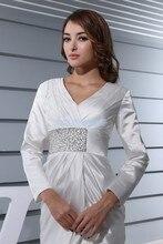 percuma penghantaran elegan 2013 gaun formal pakaian pendek lengan panjang pengantin putih pakaian pembantu rumah ditambah saiz Ibu Pengantin Pakaian