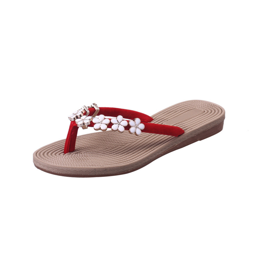 4ed5cc8fc New Arrival Fashion Women Summer Sandals Slipper Indoor Outdoor Flip flops  Flower Round Toe Beach Shoes Leisure Slides Sandals S-in Flip Flops from  Shoes on ...