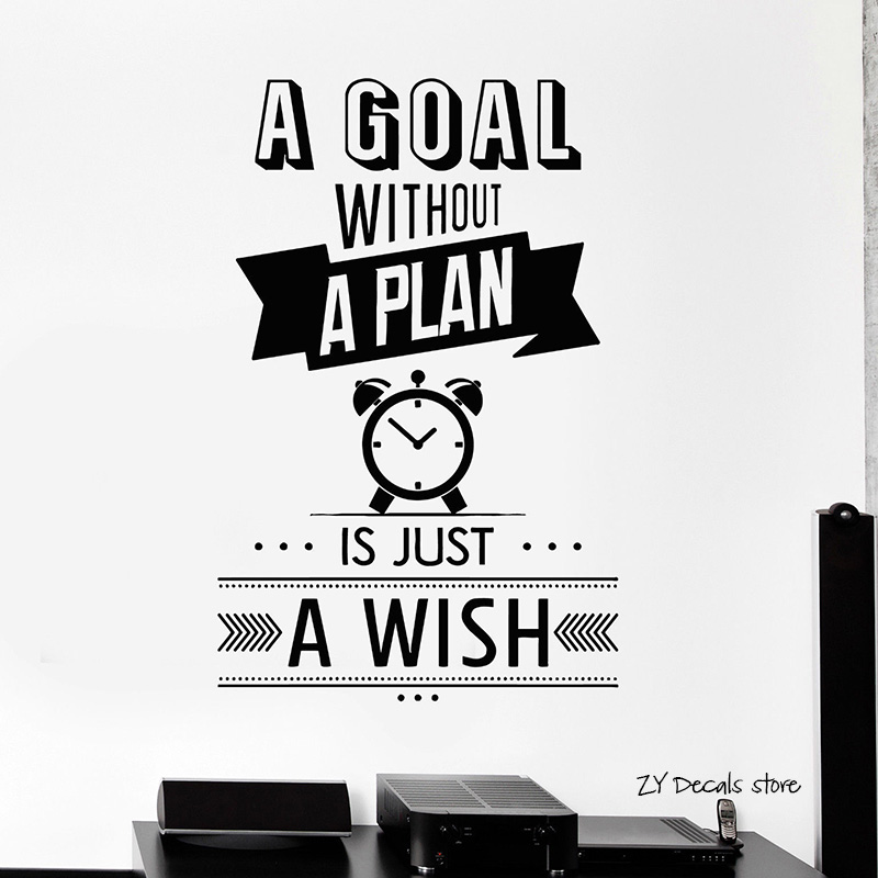 Motivation Quotes Wall Decals Inspire Wall Sticker Art Mural