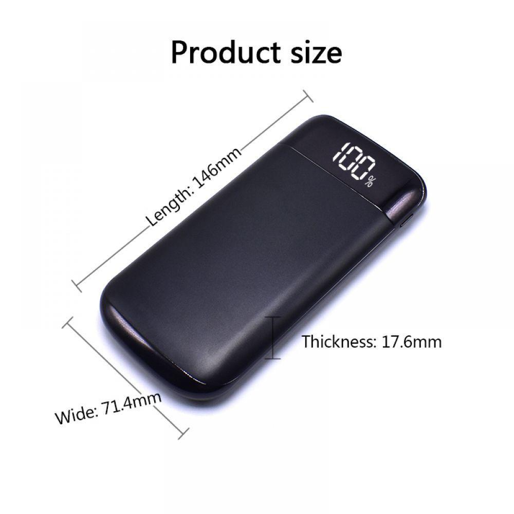 2019 Top Sale <font><b>2</b></font> <font><b>USB</b></font> LCD Power bank Wopow 20000mah Power Bank External Battery Portable Mobile Phone Charger for Xiaomi iphonex image
