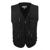 Men Vest Outdoors Sleeveless Jacket Vest With Many Pockets V Neck Waistcoat Plus Large Size 10XL Travel Coat Fishing Vest