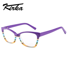 Kirka women Glasses frame retro optical clear myopia designer brand Eyeglasses with cute color