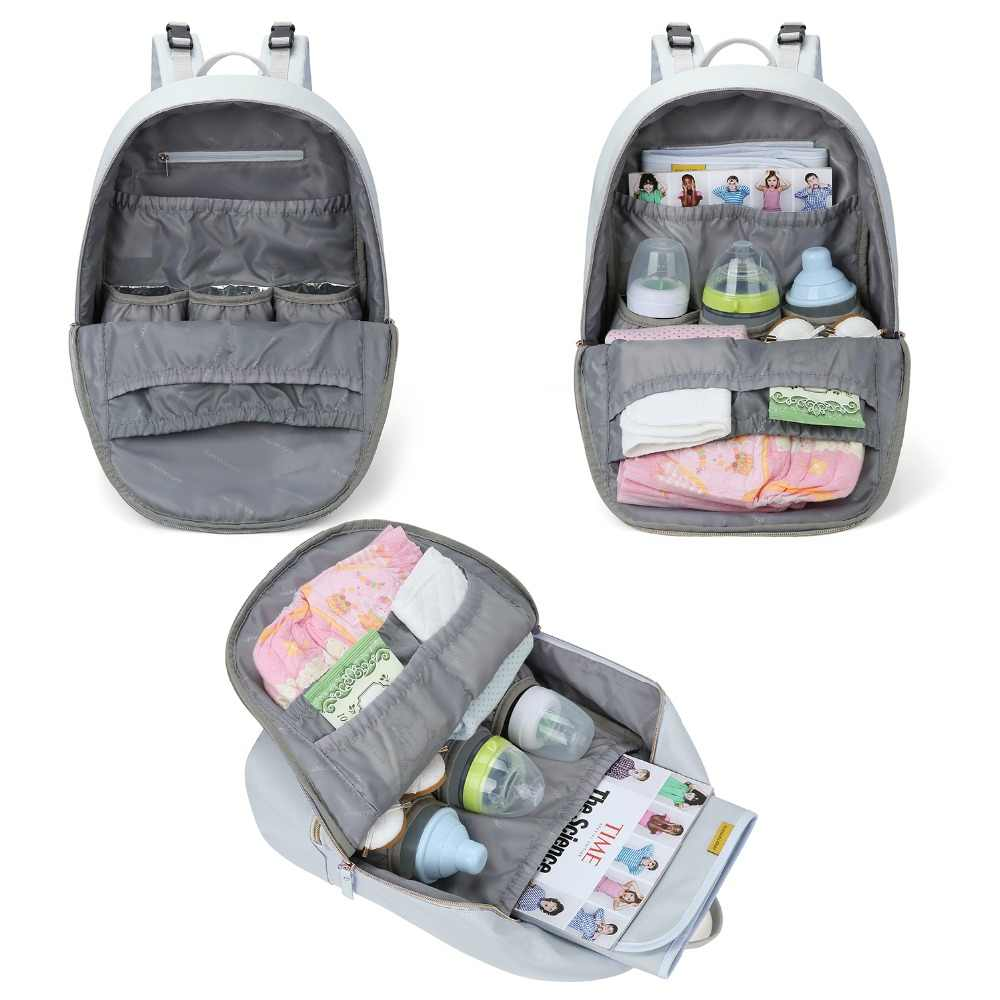 7b7da458f5b9d ... mommore Waterproof Diaper Backpacks Large Travel Diaper Bags with Changing  Pad Lightweight Nursing Bags for Baby ...
