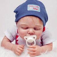 2016 хлопок Средства ухода за кожей Куклы Reborn прекрасные для маленьких мальчиков Boneca Reborn Baby живой силиконовая Reborn Куклы сна малышей Bebes Reborn Иг