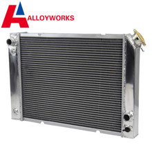 US SALE ALLOYWORKS FULL Aluminum RACE Radiator Auto 3 Row Core Lightweight FOR 1984-1988 Pontiac Fiero Shiped From US