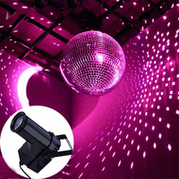 Thrisdar 10W RGB LED Pinspot Spotlight Beam Stage Light KTV Disco DJ Party Wedding Stage Lamps Mirror Ball Reflection Light