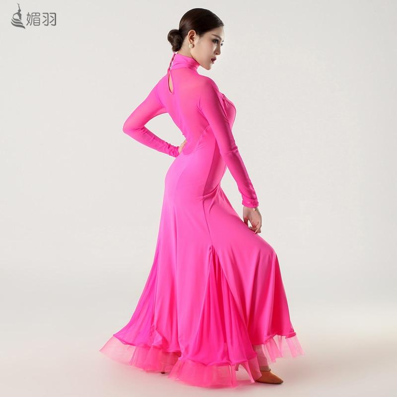Salón baile vestido de leopardo/Rosa/negro/rojo estándar Salón ...